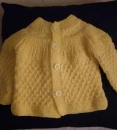 Título do anúncio: Saída maternidade de tricô
