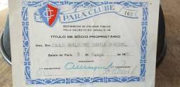 Título sócio proprietário do Pará Clube