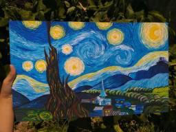 Releitura Quadro Noite Estrelada Van Gogh- sob encomenda