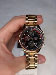 Título do anúncio: Relógio Dourado Nibosi Aço 2375 Original Luxo Todo Funcional A Prova De Água