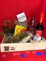 Dia dos namorados - cesta romântica - presente