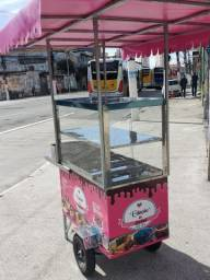 carrinho de bolo vitrine e bandejas  rodas pneumaticas