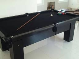 Mesa Cor Preta com Redes Residencial Tecido Tx Preto Mod GSAA2712