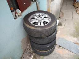 Vendo 4 rodas tucson original com pneus meia vida