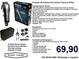 Máquina Para Cortar Cabelos Philco Dual Action Titanium,Nova,Lacrada