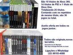 Tenho Títulos de Xbox 360,PS3 e 1 De Xbox One,Num Total de 36 Jogos.Originais,Lacrados