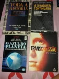 Vendo livros diversos usados