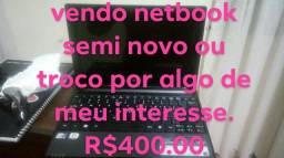 Vendo netbook semi novo