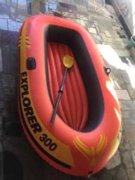 Bote inflável para duas pessoas