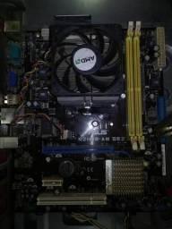Kit Placa mãe Asus + Processador Intel celeron