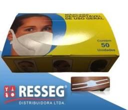 Máscara em TNT descartável - CX C/ 50 PÇS
