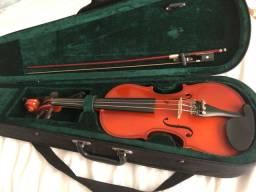 Violino Michael Novo + Arco + Case + Espaleira