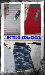 Bermudas moletom Premium,camiseta,regatas