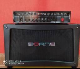 Amplificador cabeçote Borne pro 800 + caixa 2x10