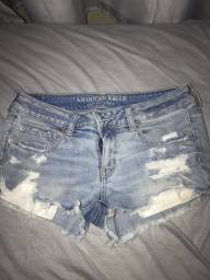 Shorts jeans comprando no EUA