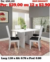 CJ Mesa de 6 Cadeira- Mesa de Jantar- Conjunto de Lindissimo- MS