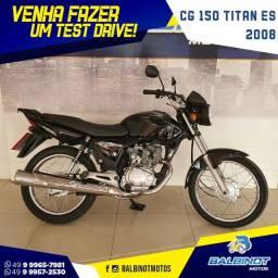 Título do anúncio: CG 150 Titan ES 2008 Preta