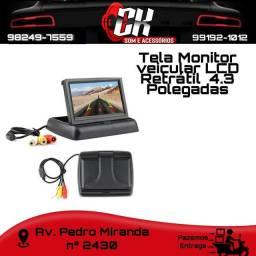 Título do anúncio: Tela Monitor veicular 4.3 Video LCD Retrátil