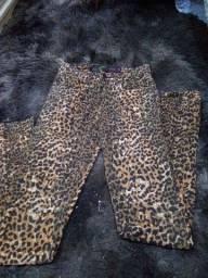 Calça jeans Animal Print
