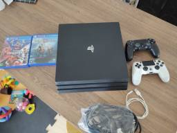 Título do anúncio: PS4 Pró 1Tera+2 Dualshock4+2 jogos