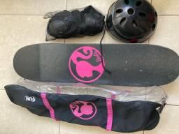 Skate + Equipamento de Proteção