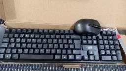 Kit teclado e mouse sem fio