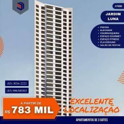 Apartamento para Venda em João Pessoa, Jardim Luna, 3 dormitórios, 3 suítes, 1 banheiro, 2