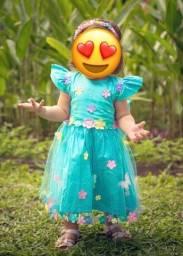Título do anúncio: Vestido infantil para festa jardim encantado !