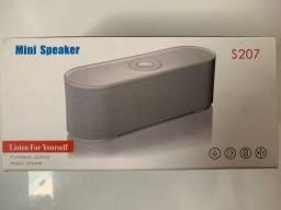 Caixa de som Bluetooth e Radio