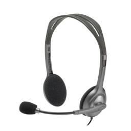 Título do anúncio: Headset Logitech H111 Telefonista Estéreo Analógico P3- Loja Natan Abreu Serra