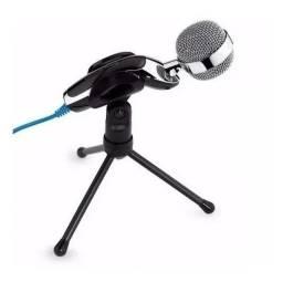 Microfone Profissional Condensador Mesa Desktop Youtuber com Tripé RC515