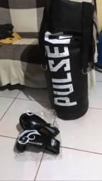 Saco De Pancada 1 Metro Altura Pulser Thunder Fight - Cheio