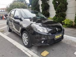 Renault Sandero Expression 1.0 Flex Preto Completo 2014