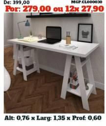 Mesa de Estudo-Escrivaninha de Computador-Escritorio-Saldão em MS