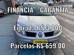SANDERO 1.0 ENTRADA R$ 3.000 + PARCELAS R$ 659,00