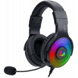 Fone de Ouvido Headset Gamer Redragon Pandora 2, RGB, P3/USB, novo, original