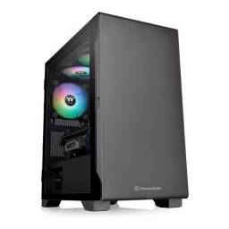 Gabinete Thermaltake Versa S100 Tg Black Mini Tower Vidro
