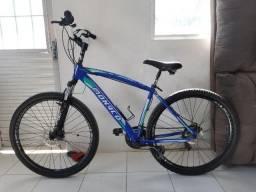 Bicicleta Mountain Bike, aro 29, freio a disco e kit shimano