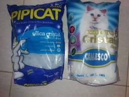 Cristais de sílica (areia para gatos)