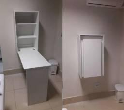 Mesa dobrável com armário - HyperBuy