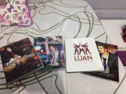 Vendo 4 DVDs e 3 CDs do Luan Santana