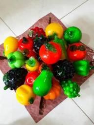 Bandeja com Frutas em Vidro