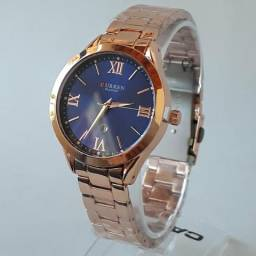Relógio CURREN 9007 Quartzo Feminino Original Top Marca de Luxo.