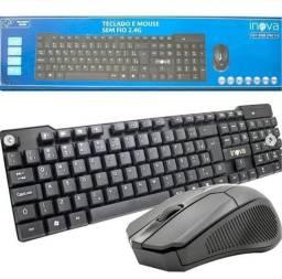 Kit Teclado e mouse sem fio / Inova