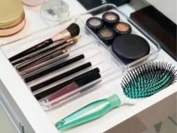 Organizador de maquiagem em acrílico para gaveta
