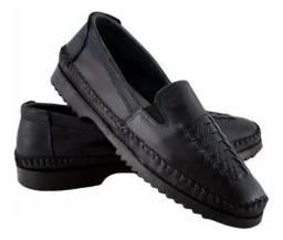 Sapato Masculino Mocassim Couro (Novo na caixa)