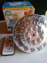 Luminária recarregável de emergência com controle remoto nova