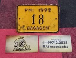 Placa antiga