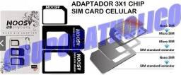 Título do anúncio: (entrega*) Adaptador Chip Celular SIM Card, Nano, Micro (Temos modem e Roteador 3G)