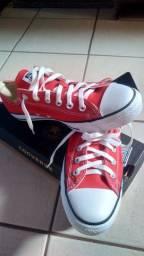 Tênis All Star Tam.39 vermelho Original (novo)